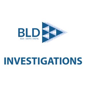 BLD Investigations square (BLUE|LIGHTS|DIGITAL)