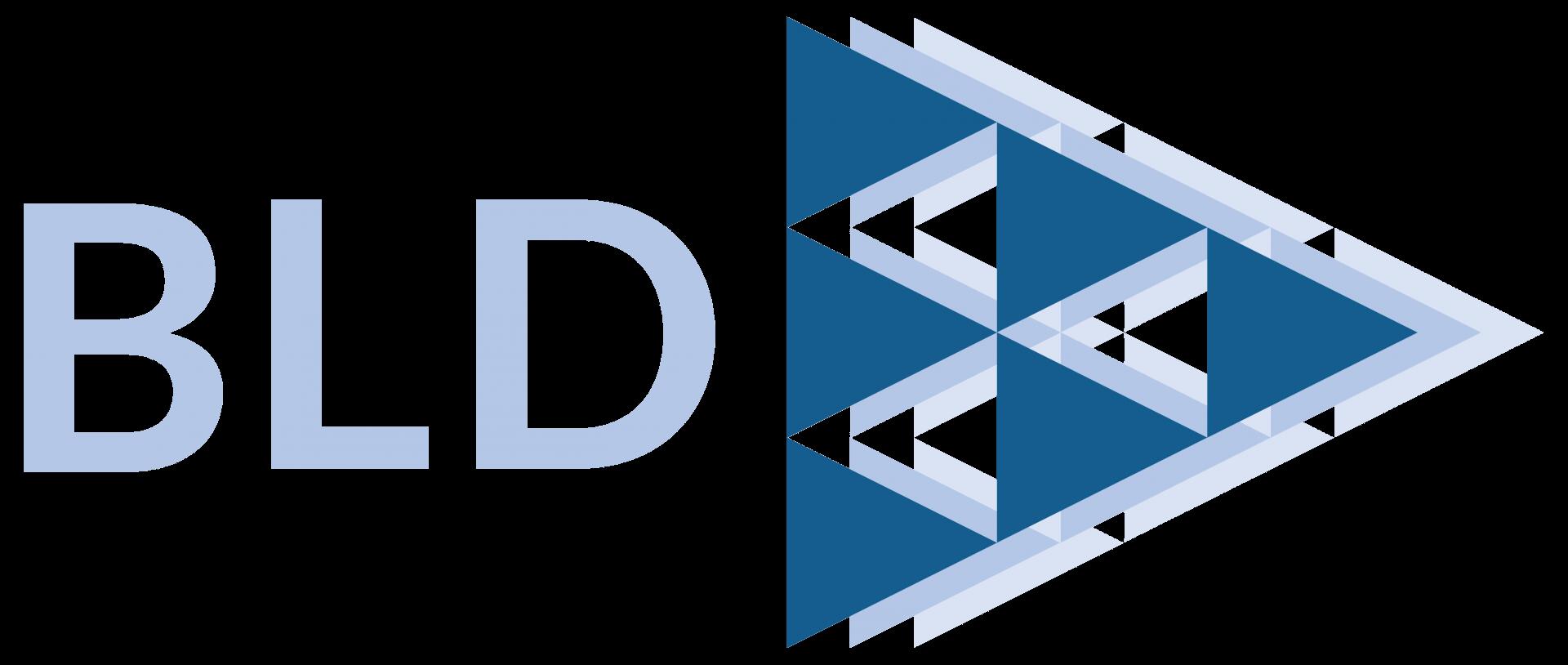 BLD logo landing page