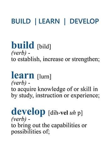 Build - Learn - Develop